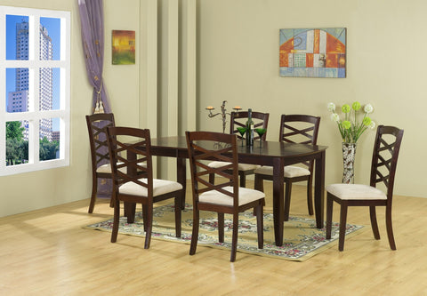 Perry Dining Table Set;  Table + 6 Chairs  (7 PCS. SET) - Furnlander