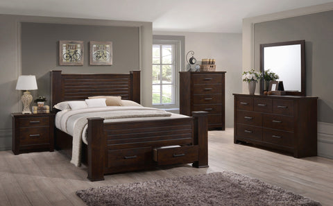 Miller Bed w/Footboard Drawers - Furnlander