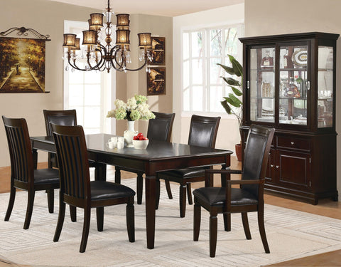Jefferson Formal Dining Table Set;  Table + 4 Side Chairs + 2 Arm Chairs  (7 PCS. SET) - Furnlander