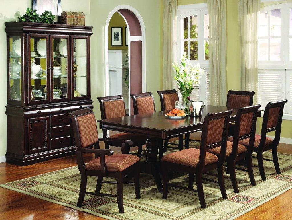 Marco Formal Dining Table Set;  Table + 4 Side Chairs + 2 Arm Chairs  (7 PCS. SET) - Furnlander