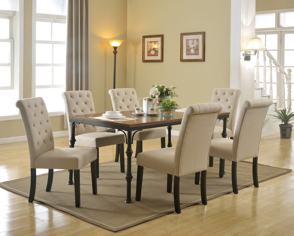 Westin Dining Table Set; Table + 6 Chairs (7 PCS. SET)