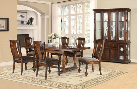 Barrington Formal Dining Table Set;  Table + 6 Chairs  (7 PCS. SET) - Furnlander