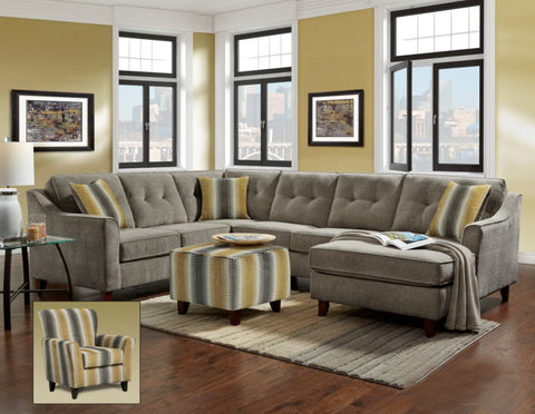 Sydney Gray Sectional Sofa Set