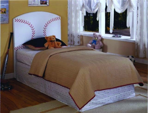 Baseball Design PVC Twin Head Board - Furnlander