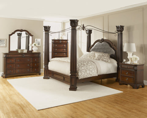 Alero Canopy Bed;  4 PCS. SET (QB, NS, DR, MR) - Furnlander