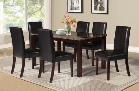 Amado Dining Table Set;  Table + 6 Chairs  (7 PCS. SET) - Furnlander