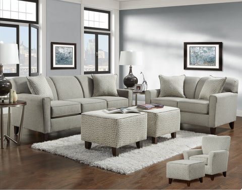 Lucy Slate Sofa & Loveseat Set;  2 PCS. SET - Furnlander