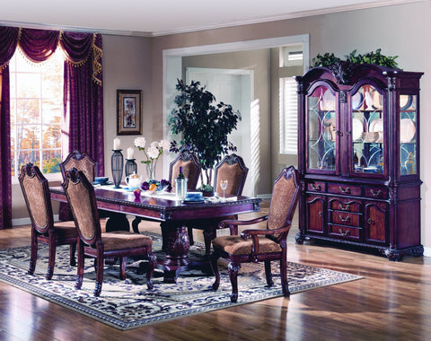 Baxter Double Pedestal Formal Dining Table Set;  Table + 4 Side Chairs + 2 Arm Chairs  (7 PCS. SET) - Furnlander