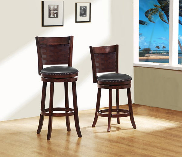 Circo Wood Swivel Bar Stool - Furnlander
