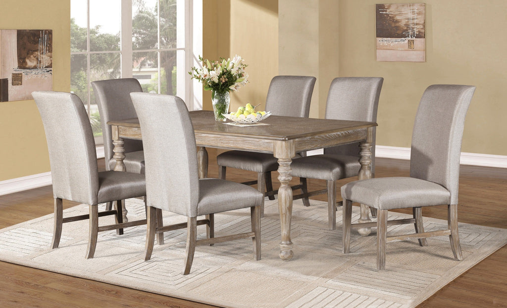 Jillian Dining Table Set;  Table + 6 Chairs  (7 PCS. SET) - Furnlander