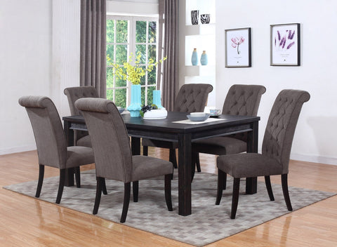 Cupertino Dining Table Set; Table + 6 Chairs (7 PCS. SET) - Furnlander