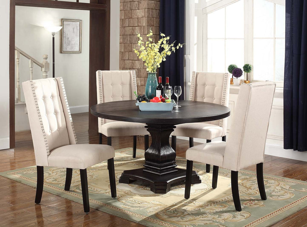 Marilyn Dining Table Set;  Table + 4 Chairs (5 PCS. SET) - Furnlander