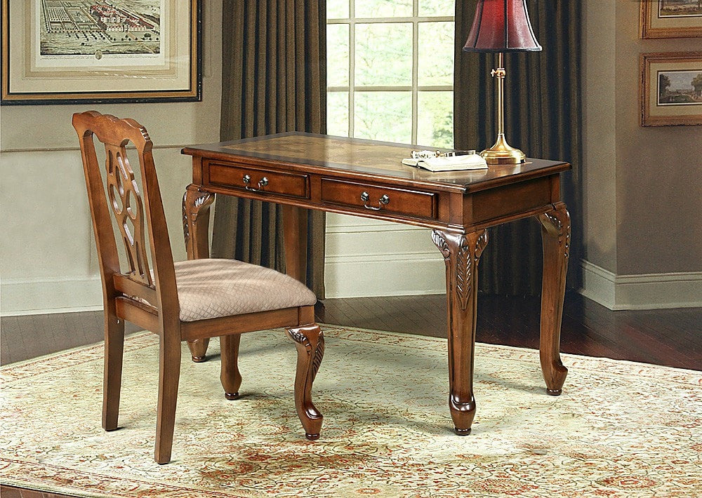 MacMillan Writing Desk w/ Chair Set Map Design - Furnlander