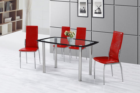 Arden Dining Table Set;  Table + 4 Chairs  (5 PCS. SET) - Furnlander