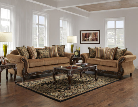 Florence Sofa & Loveseat Set;  2 PCS. SET