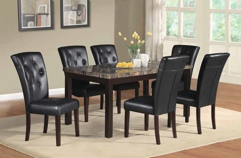 Fabiano Dining Table Set;  Table + 6 Chairs (7 PCS. SET) - Furnlander