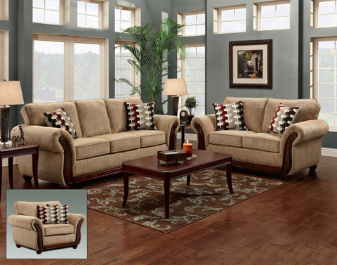 Radar Havana Sofa & Loveseat Set;  2 PCS. SET - Furnlander