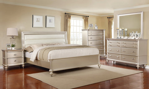 Champagne Bed;  4 PCS. SET (QB, NS, DR, MR) - Furnlander