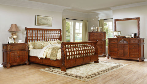 Carrington Bed;  4 PCS. SET (QB, NS, DR, MR) - Furnlander