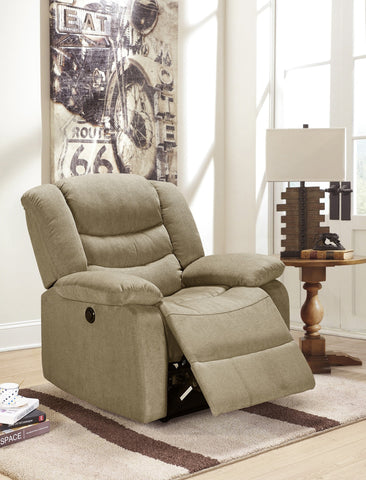 Obrien Fabric Power Rocker Recliner Taupe - Furnlander