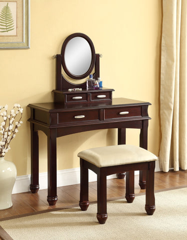 Cierra Vanity Table w/ Stool  2 PCS. SET - Furnlander