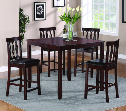 Ariana Counter Table Set;  Table + 4 Chairs  (5 PCS. SET) - Furnlander