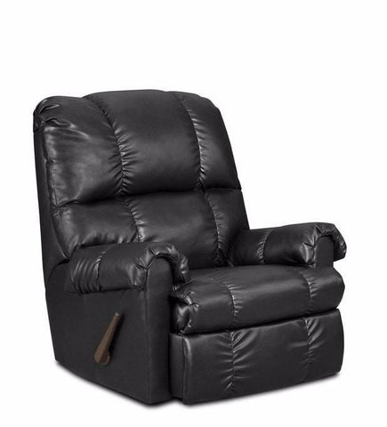 Alberta Black Recliner - Furnlander