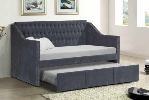 Westwood Day Bed w/Trundle Dark Gray - Furnlander