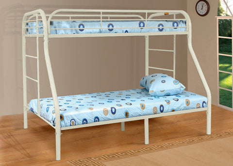 Twin / Full Metal Bunk Bed White - Furnlander