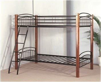 Twin / Twin Convertible Wood / Metal Bunk Bed - Furnlander