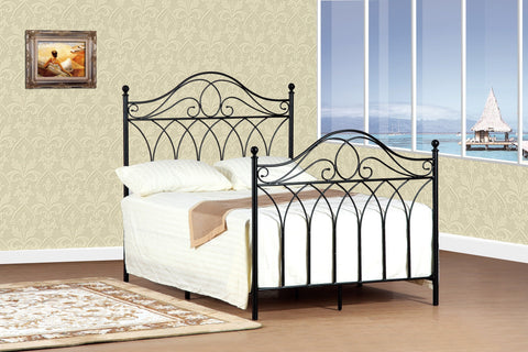 Felicia Queen Bed Black - Furnlander