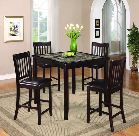 Addison Counter Table Set;  Table + 4 Chairs  (5 PCS. SET) - Furnlander