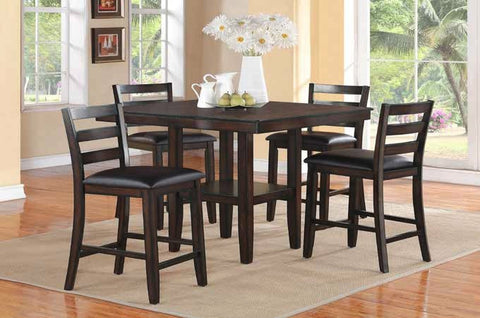 Anders Counter Table Set;   Table + 4 Chairs  (5 PCS. SET) - Furnlander