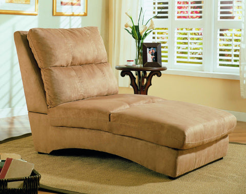 Microfiber Taupe Chaise - Furnlander