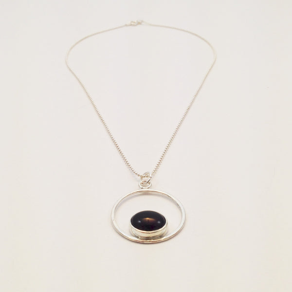Aura Pendant with Amethyst