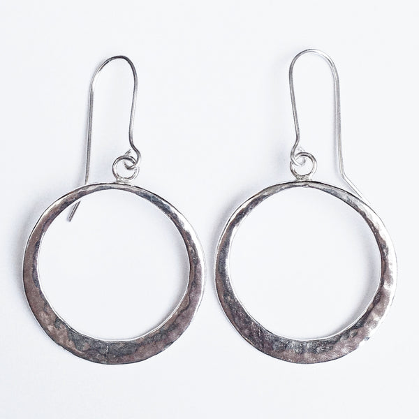 Silver boho chic hoops