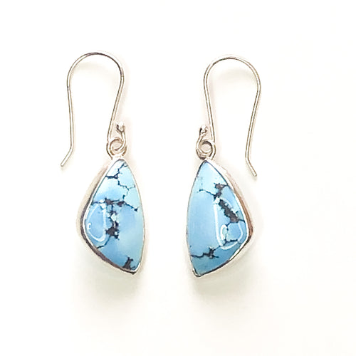 Smooth Sailing Lavender Turquoise Drop Earrings