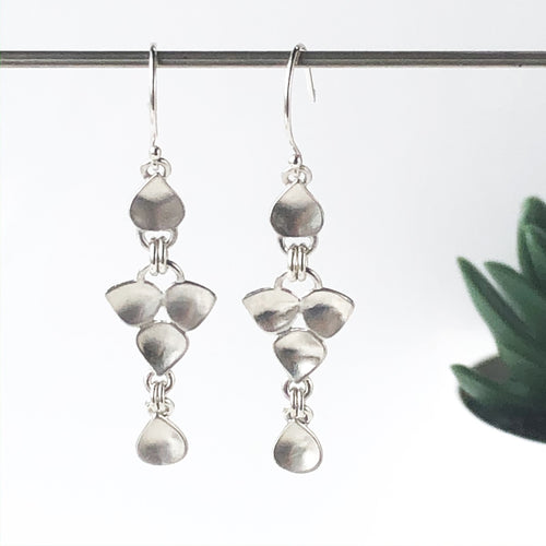 Sterling Silver Cascade Dangle Earrings