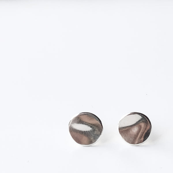 Petite Disc Stud Earrings