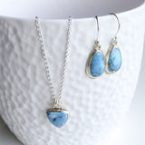 Blue Crush Lavender Turquoise Dangle Earrings