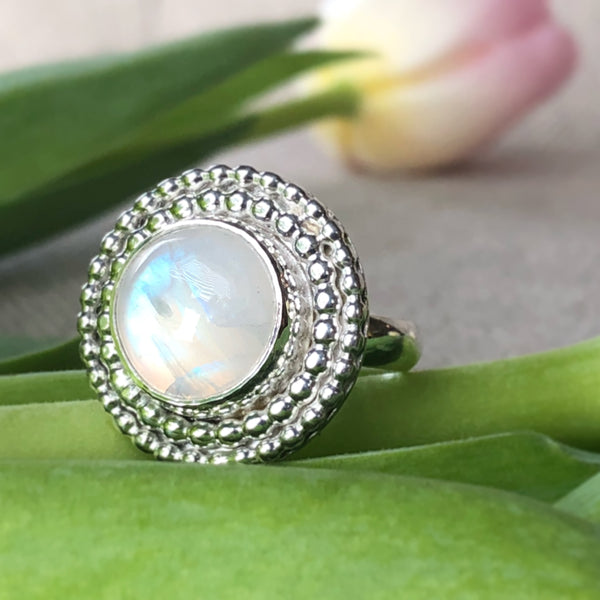 Spring and Summer 2018 moonstone June birthstone ring