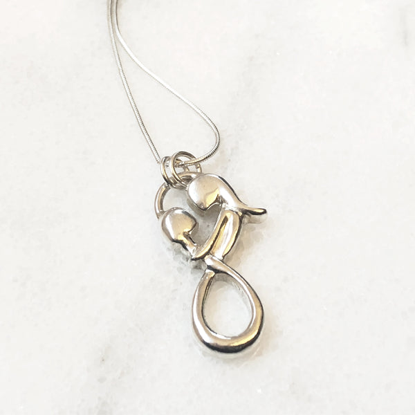A Mother's Love is Infinite Pendant, Infinite Love Pendant, Mother and Child Pendant