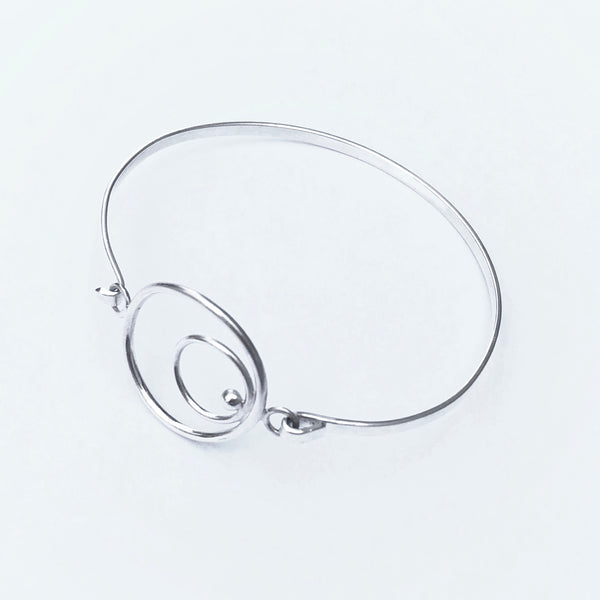 Sterling silver circles bangle bracelet