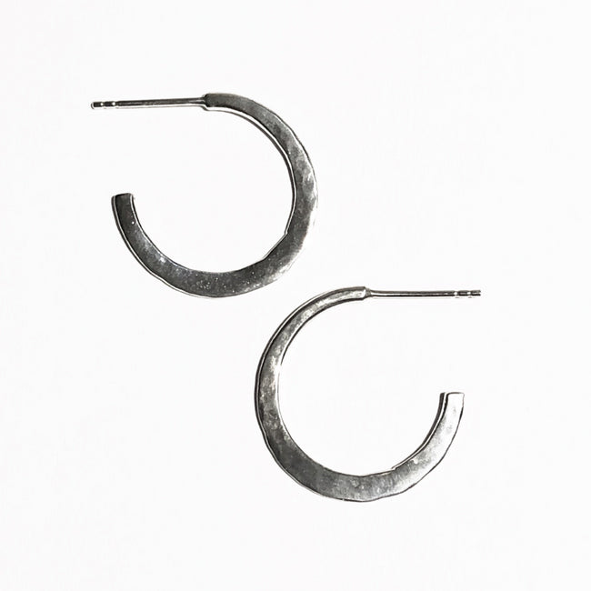 Small hoop earrings with post back