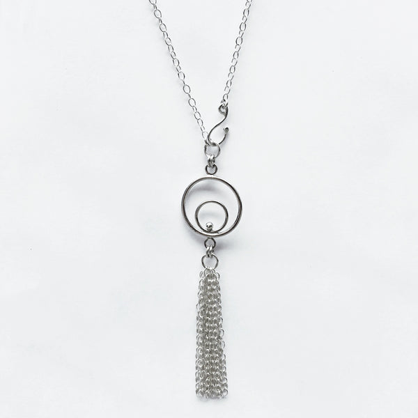 Silver tassel necklace