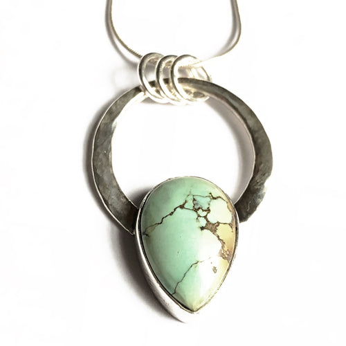 Treasure Mountain Turquoise and Silver Pendant