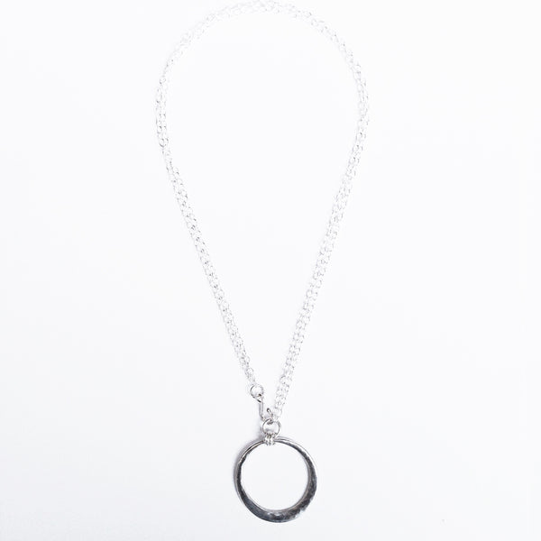 Sterling silver long pendant necklace