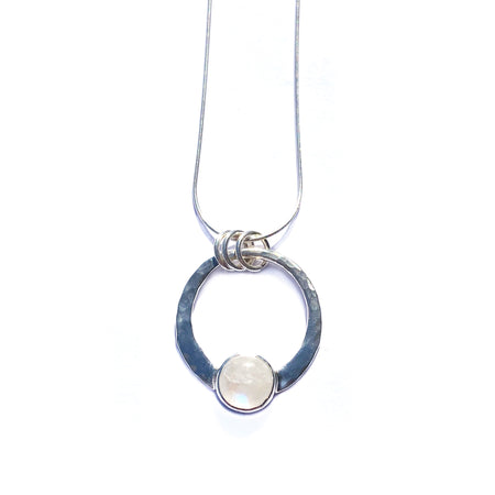 Labradorite and Silver Encircled Transformation Pendant