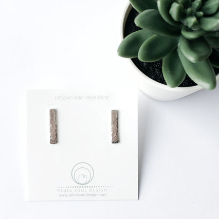 Beveled Post Stud Earrings