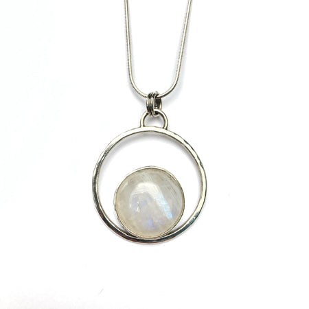 Sterling Silver Double Circles Pendant